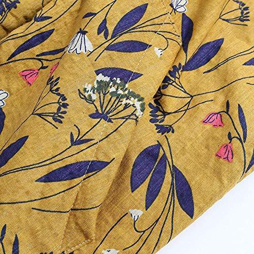 Stampa Da Inverno Moda A Lunghe Donna Tasca Casuale Outwear Vintage Elegante Cappuccio Con Invernale Giacca Caldo Maniche Cappotto Donne Parka Floreale Giovane Gelb 6bfg7y