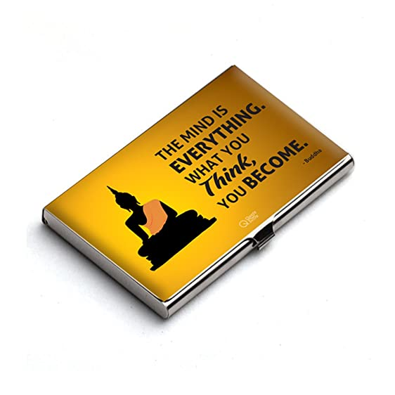 The mind is everything buddha quote business card holder by the mind is everything buddha quote business card holder by quotesutra reheart Gallery