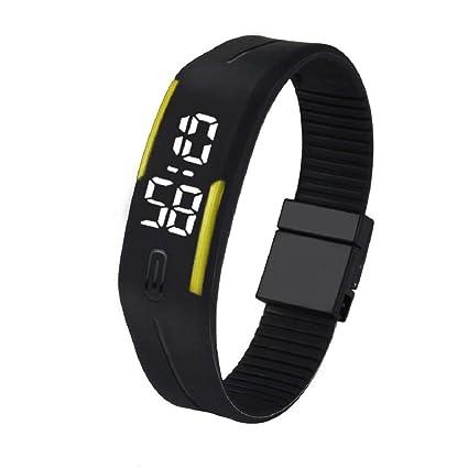 Tongshi Para mujer para hombre de goma del reloj LED Fecha Deportes reloj digital pulsera (