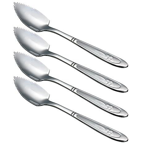 Amazon.com: zicome de toronja cucharas, acero inoxidable, 6 ...