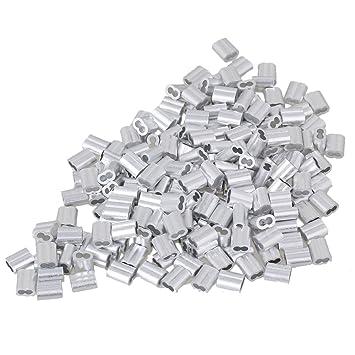 cnbtr 2 mm doppelt Metallkappen Remasuri Aluminium Crimpen Schlaufe ...