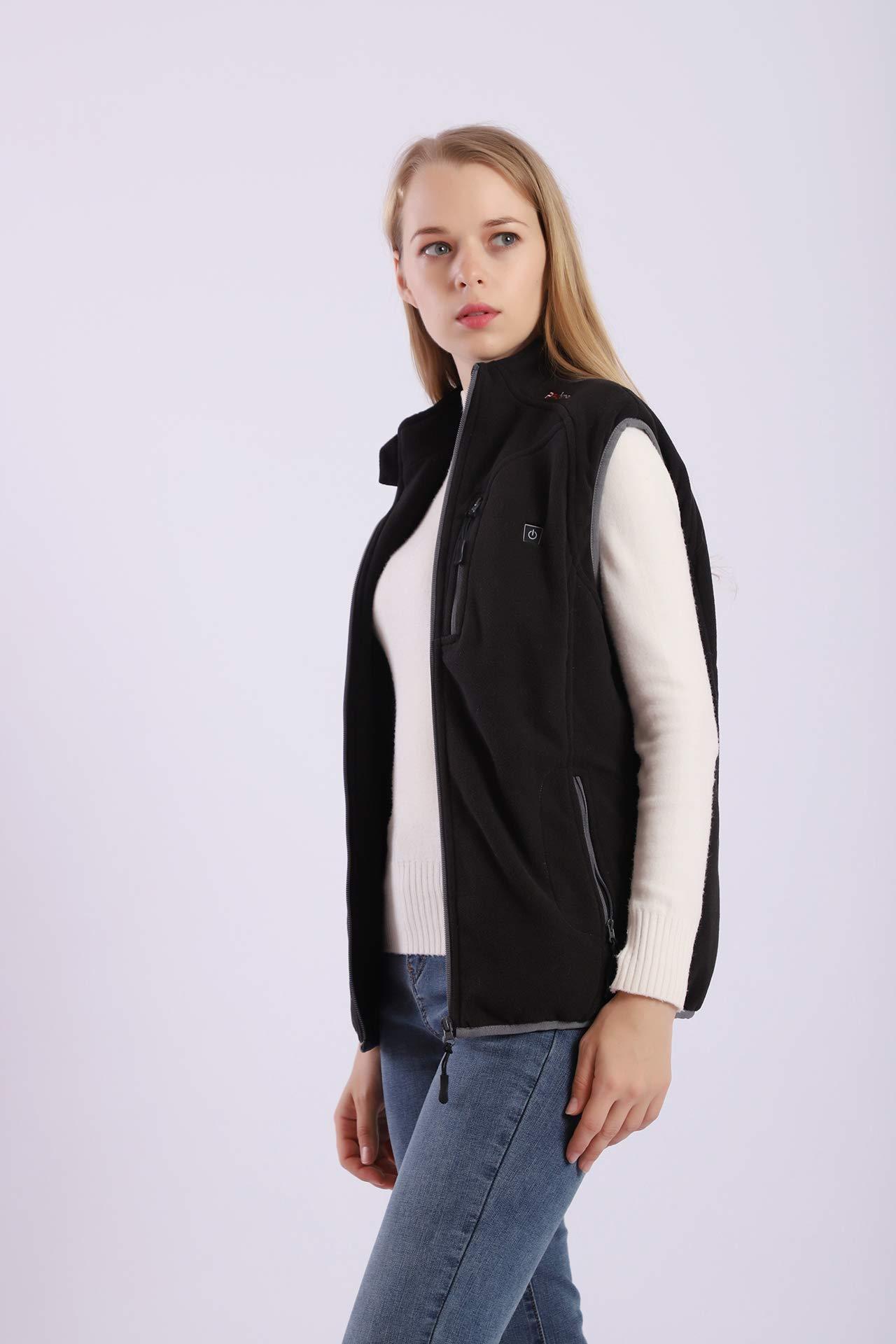 Prosmart Heated Vest Polar Fleece Lightweight Waistcoat with USB Battery Pack (XS) by PROSmart