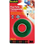 Fita Dupla Face 3M Scotch Fixa Forte Transparente - Uso Interno - 12 mm x 2 m, Scotch, HB004419873