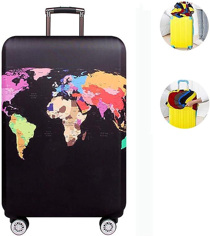 Travel Luggage Cover Suitcase Elastic Fabric LJJLJJLJJLJJ Dustproof Protective Trolley Case Cover Protector Elastic Fabric Baggage Suitcase Cover Waterproof Washable Stylish Suitcase Cover,23-26