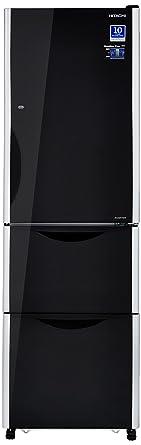 Hitachi 342 L Frost Free Multi-Door Refrigerator(R-SG32FPND, Glass Black, Inverter Compressor)