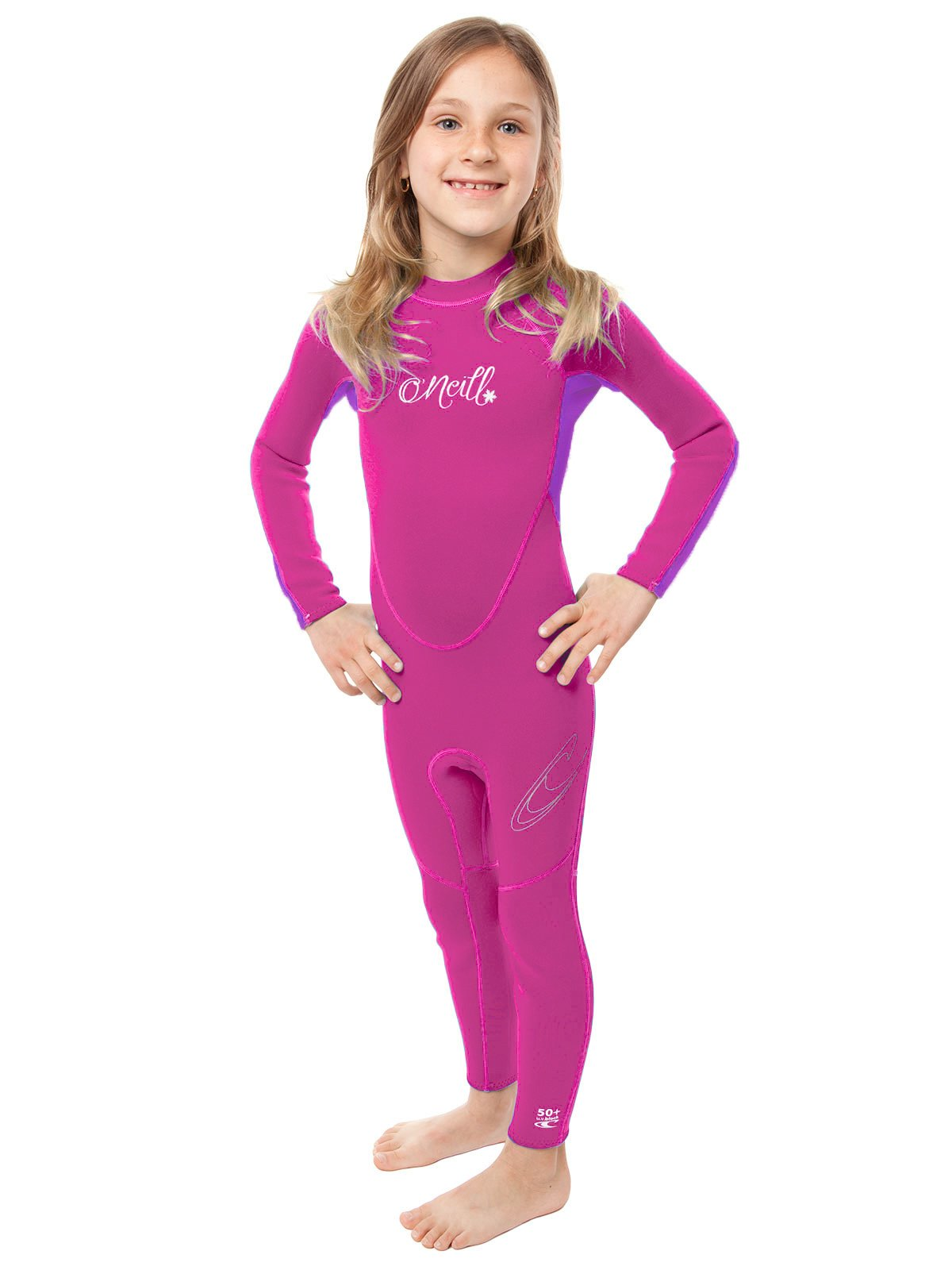 O'Neill Reactor toddler full wetsuit Youth 4 Punk pink/ultraviolet (4629G) by O'Neill Wetsuits