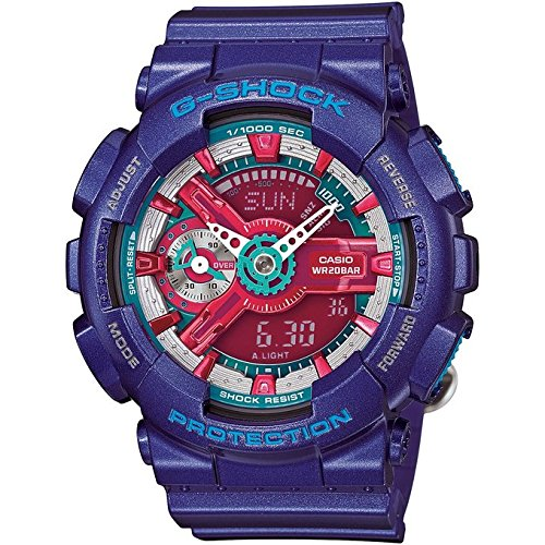 Casio G-Shock Red Dial Multicolored Resin Quartz Ladies - Multi Colored G Shock