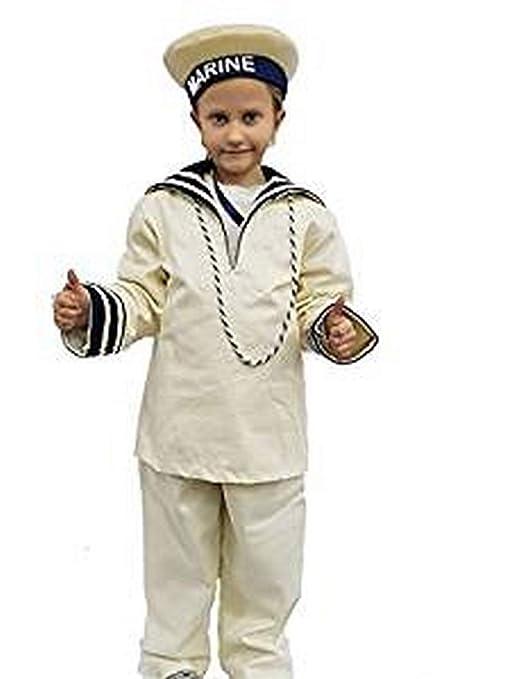 PICCOLI MONELLI Costume Marinaio Bambino 8-9 Anni Vestito Carnevale ... 2baa29a90ca2