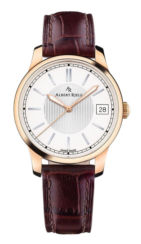 Albert Riele Damen Armbanduhr CONCERTO Analog Quarz dunkelbraunes Lederarmband 206LQ02-SP33I-LN