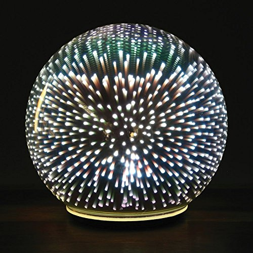 Sphere Accent Ball Lamp - Mercury Glass Starburst Ball LED Table Light (Mercury 3 Light Bath)