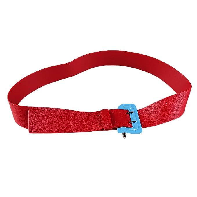 Sharplace Cinturón de Cintura Pretina Hebilla Delgado Accesorio Estilo Bonito Ligero de Cuero de Poliuretano pNkrnuoiX
