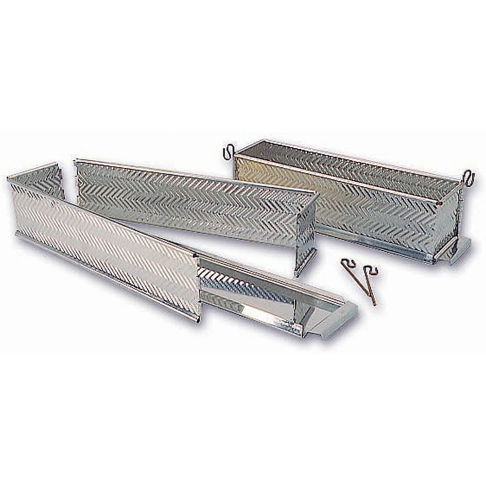 Matfer Bourgeat 340902 Scalloped Rectangular Meat Pie Mold, Silver