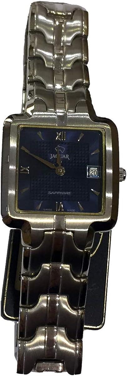 Reloj Jaguar J433/2 de Hombre con Caja y Cadena de Acero Cuadrada y Calendario