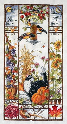 Janlynn Kreuzstich-Set Motiv Autumn Cat