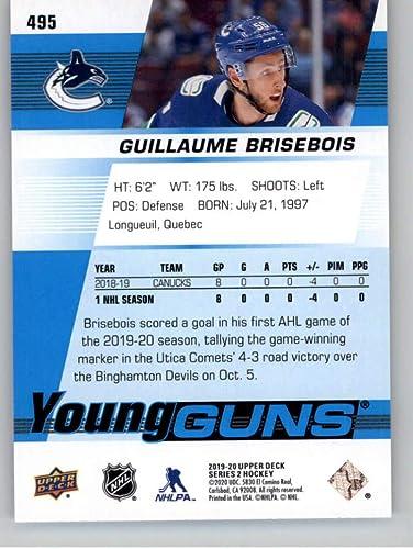 Vancouver 2019-20 Upper Deck Series 2 YoungGuns #495 Guillaume Brisebois