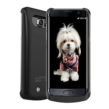 S6 Edge Plus recargable caso,ALCLAP 4200 mAh cargador de batería externo portátil de copia de seguridad Batería externa Power Pack para Samsung Galaxy ...