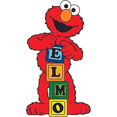 Elmo Playing Blocks Sesame Street Cartoon Decor Wall Sticker Art Design Decal for Girls Boys Kids Room Bedroom Nursery Kindergarten House Fun Home Decor Stickers Wall Art Vinyl Decoration (40x20 inch): Baby