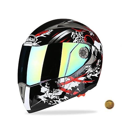 Protectwear Casco de moto negro-rojo 99 FS-801-99R Tama/ño XL