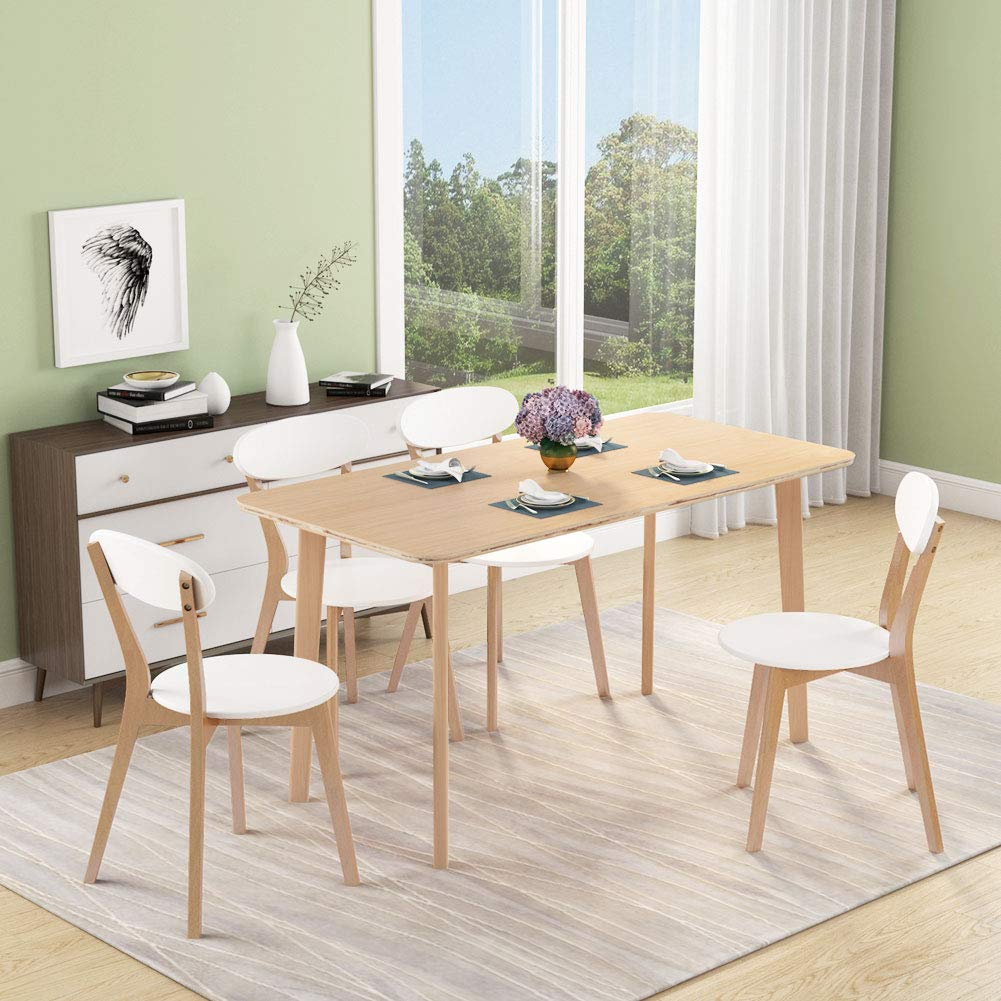 Tribesigns Dining Table, Modern Solid Wood Compressed Dining Room Table with 55 x 27.5 inches Measurement for Dining Room. Chairs Not Included by Tribesigns