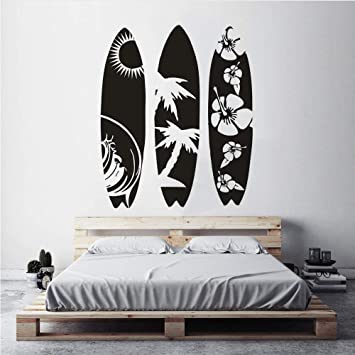 Surf Skateboard Home Art Deco Wall Sticker Camera da letto ...
