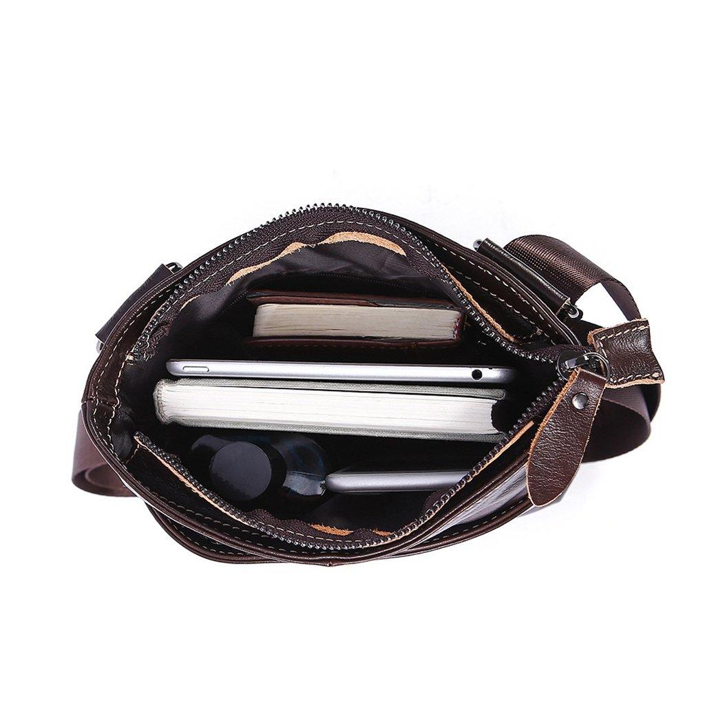 13e9c14284 Sucastle Homme Cuir Sacs bandoulière Sacs business Mallettes Classique  Vintage Blocage RFID Grande Capacité,#1 Sacs