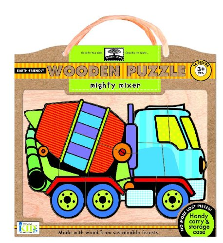 Green Start Wooden Puzzles: Mighty Mixer - Earth Friendly Puzzles with Handy Carry & Storage Case