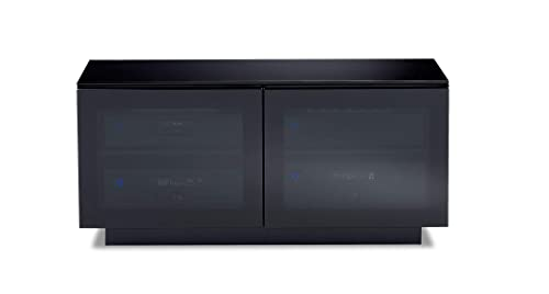 BDI 8224 Mirage Double-Wide Media and TV Cabinet, Black