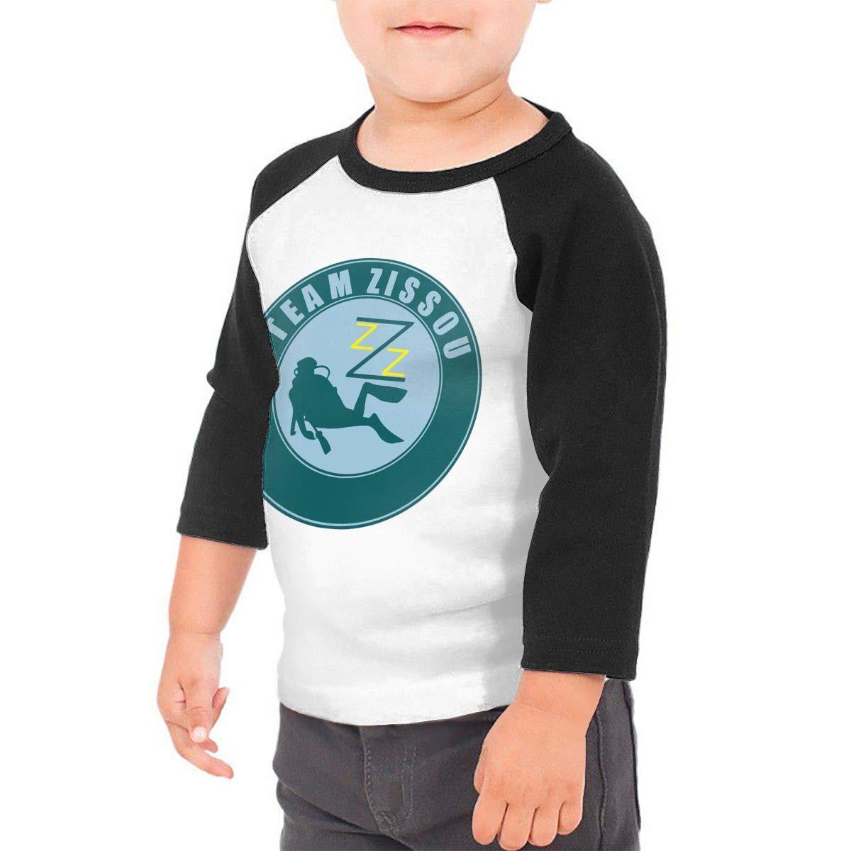 yimo Team Zissou Unisex Toddler Baseball Jersey Contrast 3//4 Sleeves Tee