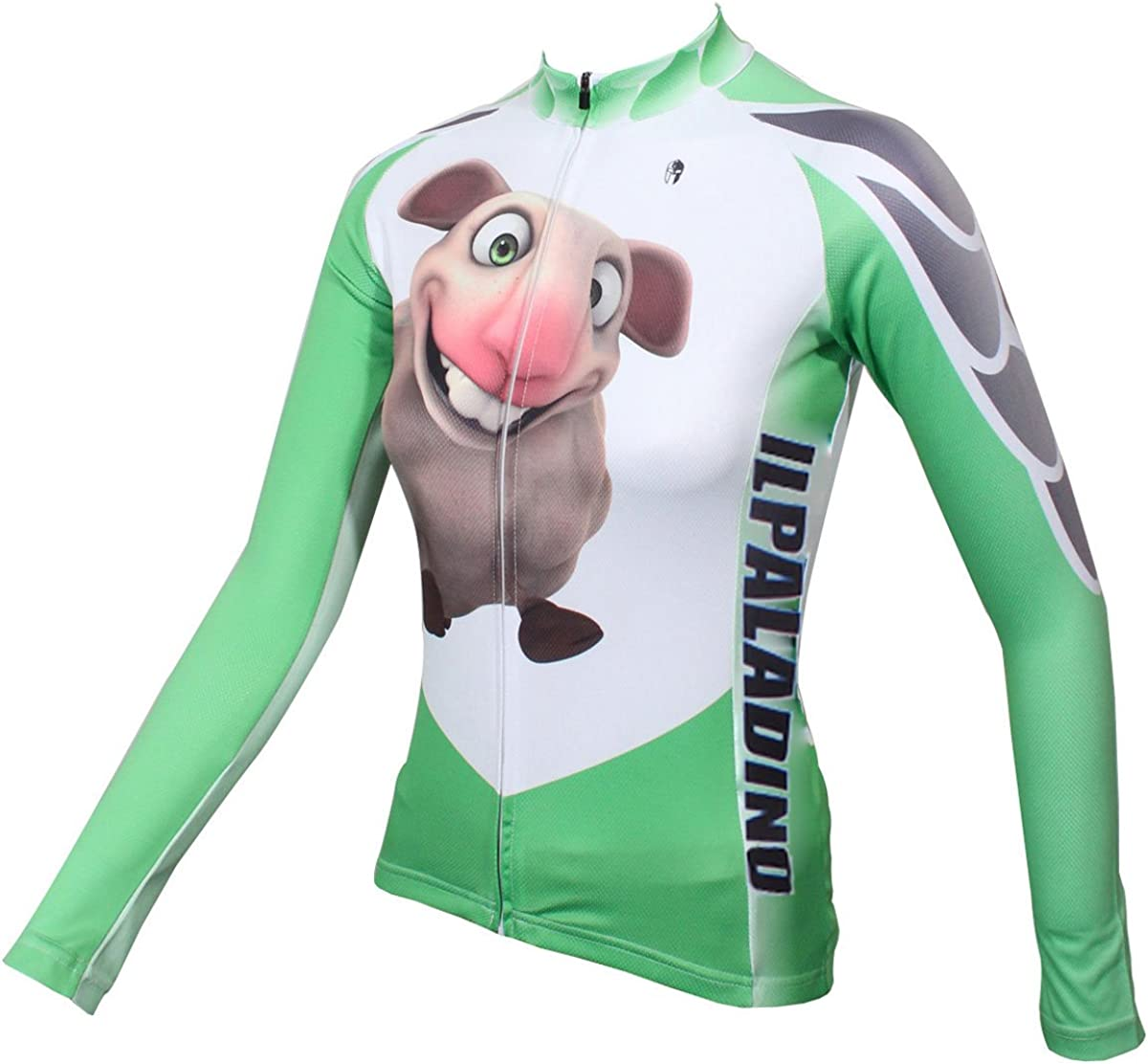 ILPALADINO Womens Cycling Jersey Long Sleeve Biking Shirts Animals Pattern