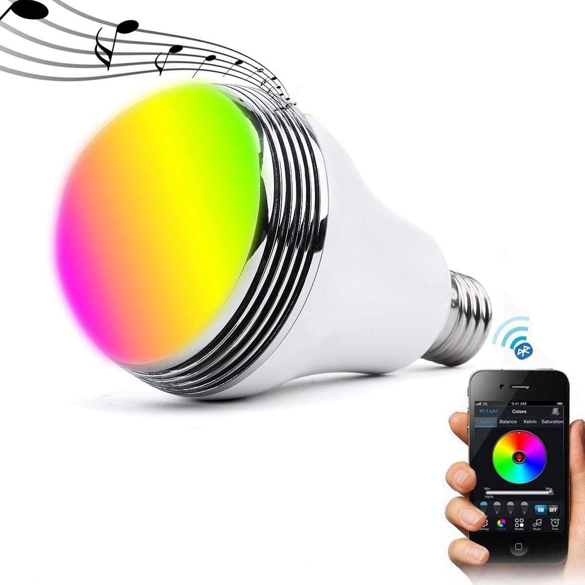 Qili - Smart Bulb With Bluetooth Speaker Rgbw Color