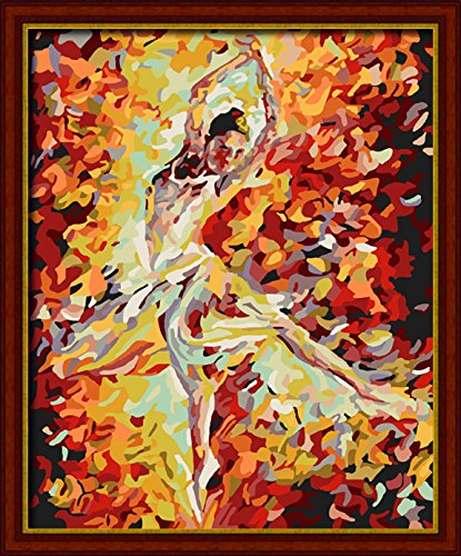 E-onelife Diy Oil Painting, Paint By Number Kits For Children, Ballet Dancer Diy Digital Oil Painting Without Wooden Frame
