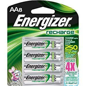8 Pk, AA Rechargeable Battery