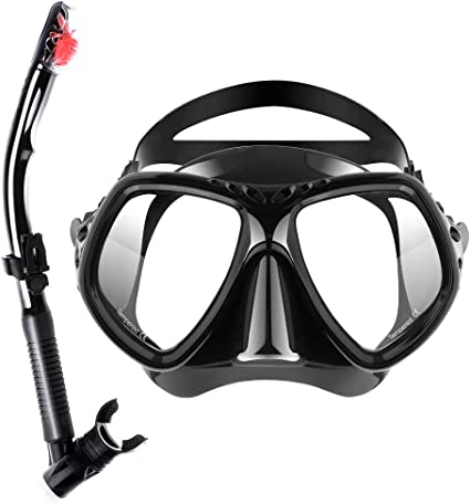 SKL Snorkel Mask Anti-Fog Anti-Leak Snorkeling Diving Mask with Impact Resistant Panoramic Tempered Glass for Adults Youth