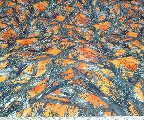 Discount Fabric True Timber 4 way Stretch MC2 Blaze Orange Camouflage CA07 (Orange Camo Fabric)