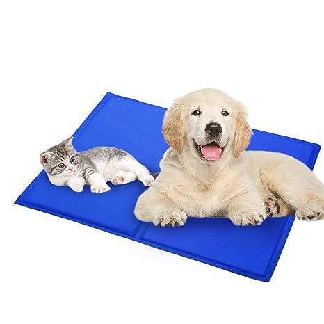 HEQUN Manta Refrigerante para Perros Manta Enfriador para Mascotas Reduce la Sensación Térmica Corporal (M