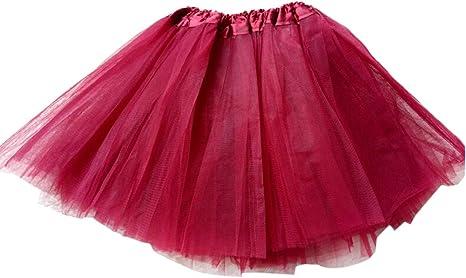 GOGO TEAM Falda Tutu Chica Falda de Ballet Falda de Traje de Hada ...