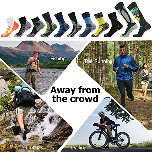 [SGS Certified] RANDY SUN Unisex Waterproof & Breathable Hiking/Trekking/Ski Socks 1 Pair