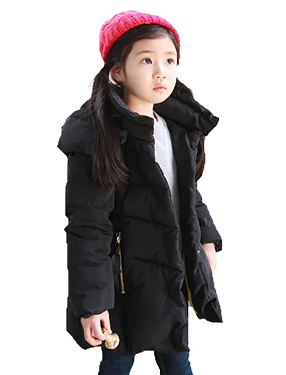 e93772dfb Amazon.com  Lemonkids Children Girls Chic Hooded Winter Anoraks ...