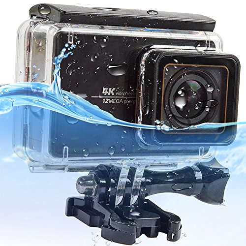 First2savvv black 30M Touch screen back door Waterproof Housing Diving Swimming Protective case cover for Yi 4K+ . Yi Discovery . Yi Lite . Yi 4K Plus . Xiaoyi yi 2 4k action camera - XM2-FSK-CM-01