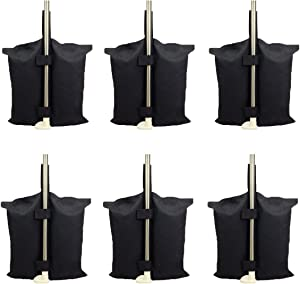6 PCS Weights Bag for Pop up Canopy Tent Weighted Feet Bag Sand Bag (6pcs)