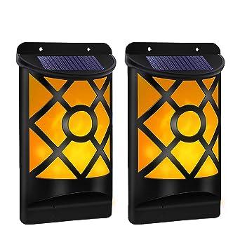 Schon Koopower Solarleuchte Tanzen Flamme Beleuchtung 66 LED Flickering Solar  Wandleuchte, Waaserdicht IP65, Außenleuchte Solarlampe Drahtlose Wandampe  ...