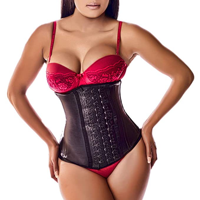2516e58cf6629 Ann Darling Latex Sport Waist Trainer Cincher Trimmer Hourglass Corset For  Weight Loss Black