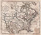 Historic Map | 1798 A General Map of North America from the best Authorities | Kitchin, Thomas