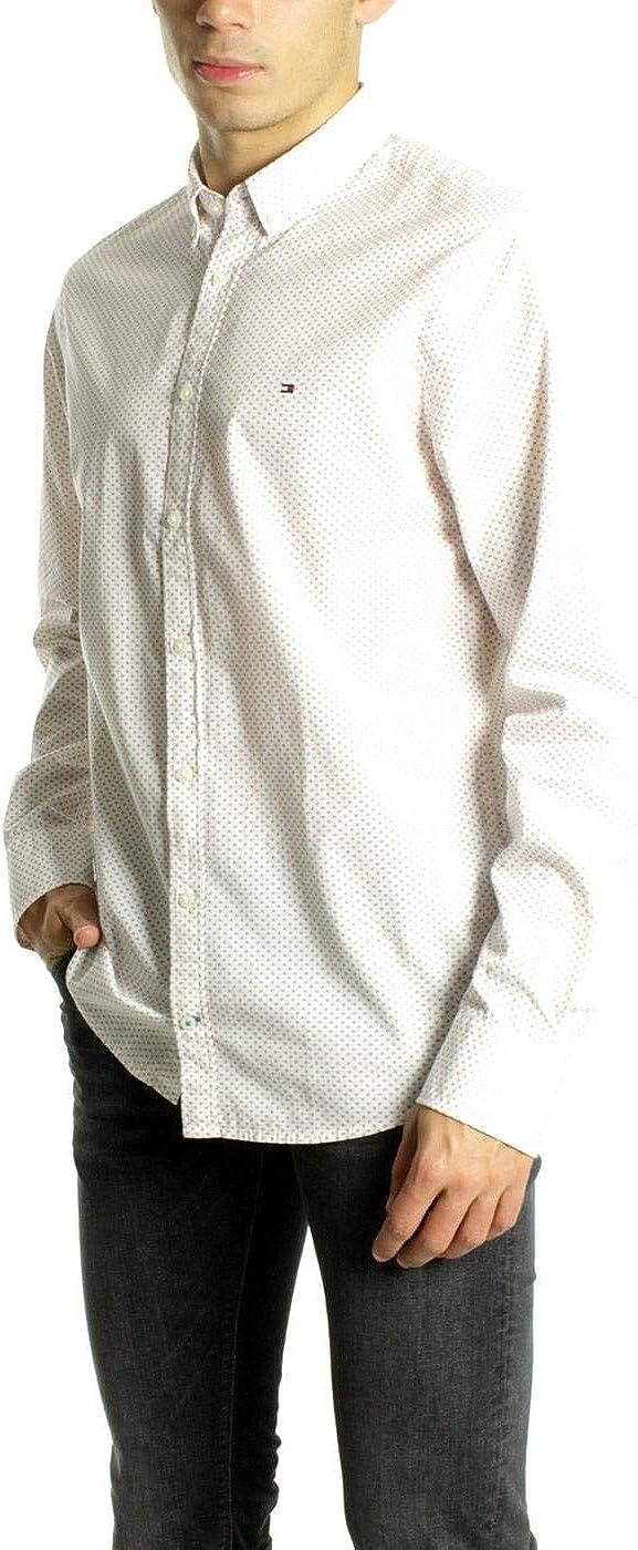 Tommy Hilfiger Camisa WCC Circle Blanco de Hombre XXL Blanco: Amazon.es: Ropa y accesorios