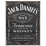 Jack Daniel's Black Logo Tin Sign 13 x 16in