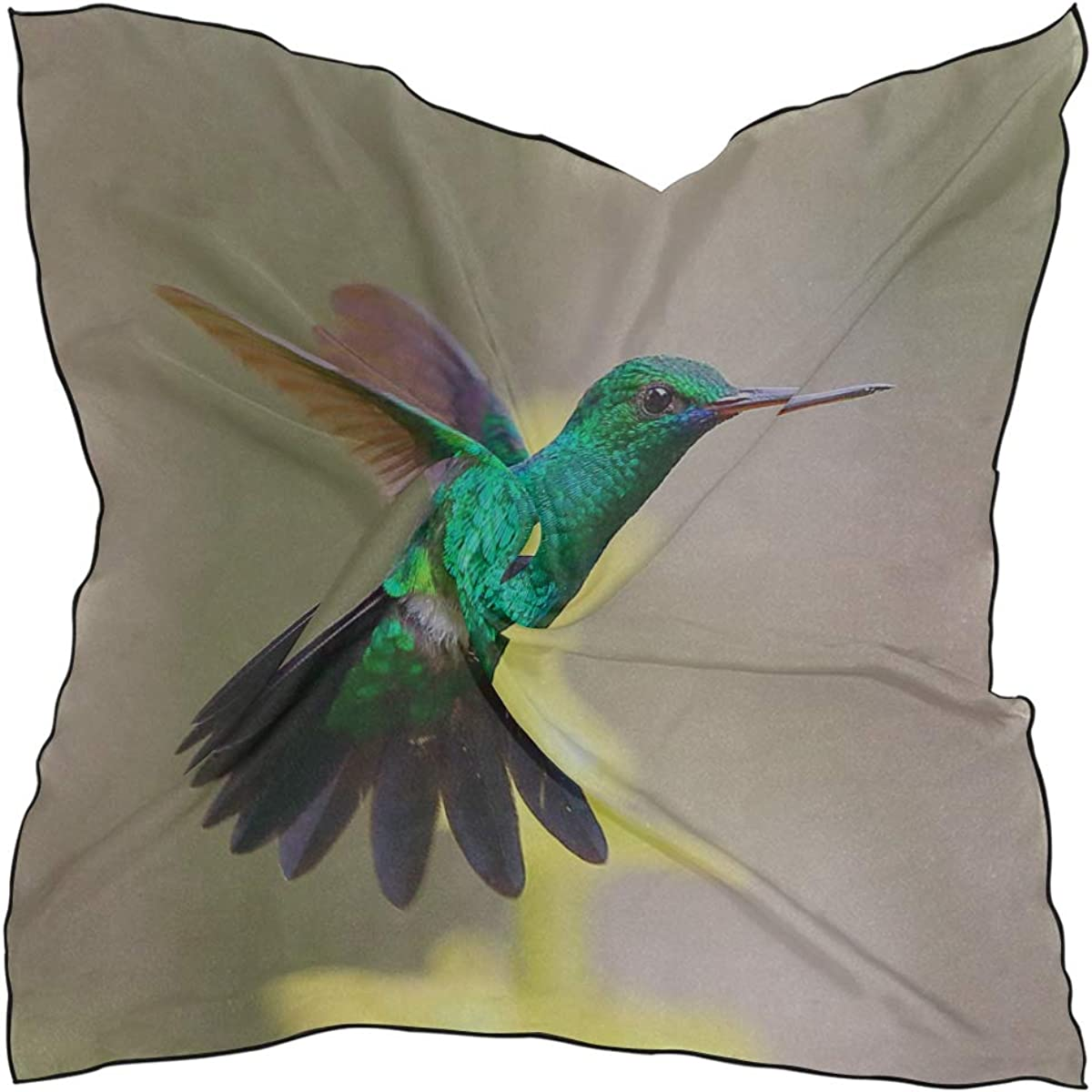Soft Polyester Silk Bed Head Scarf Fashion Print Hummingbirds Are Sucking Nectar Woman Scarf Scarfs For Girls Scarves Print Multiple Ways Of Wearing Daily Decor