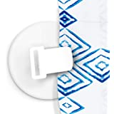 FEATCH 4 Pack Shower Curtain Clips, Shower Windproof Splash Guard - Self Adhesive Shower Curtain Weight Clip