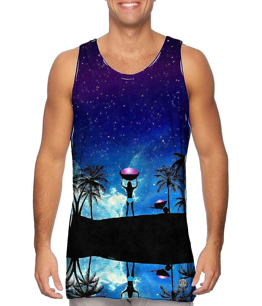 Beach Galaxy Mens Tank Top Tshirt Yizzam-