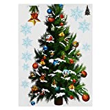 Decoration - Christmas Party Home Decoration Removable Green Christmas Tree Wall Stickers Kids Children Toys - Xmas Diagram Fence Label Yule Palisade Gummed Yuletide Rampart - 1PCs