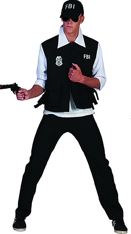 Zauberclown mágica payaso FBI Disfraz Para Hombres, S, Negro ...